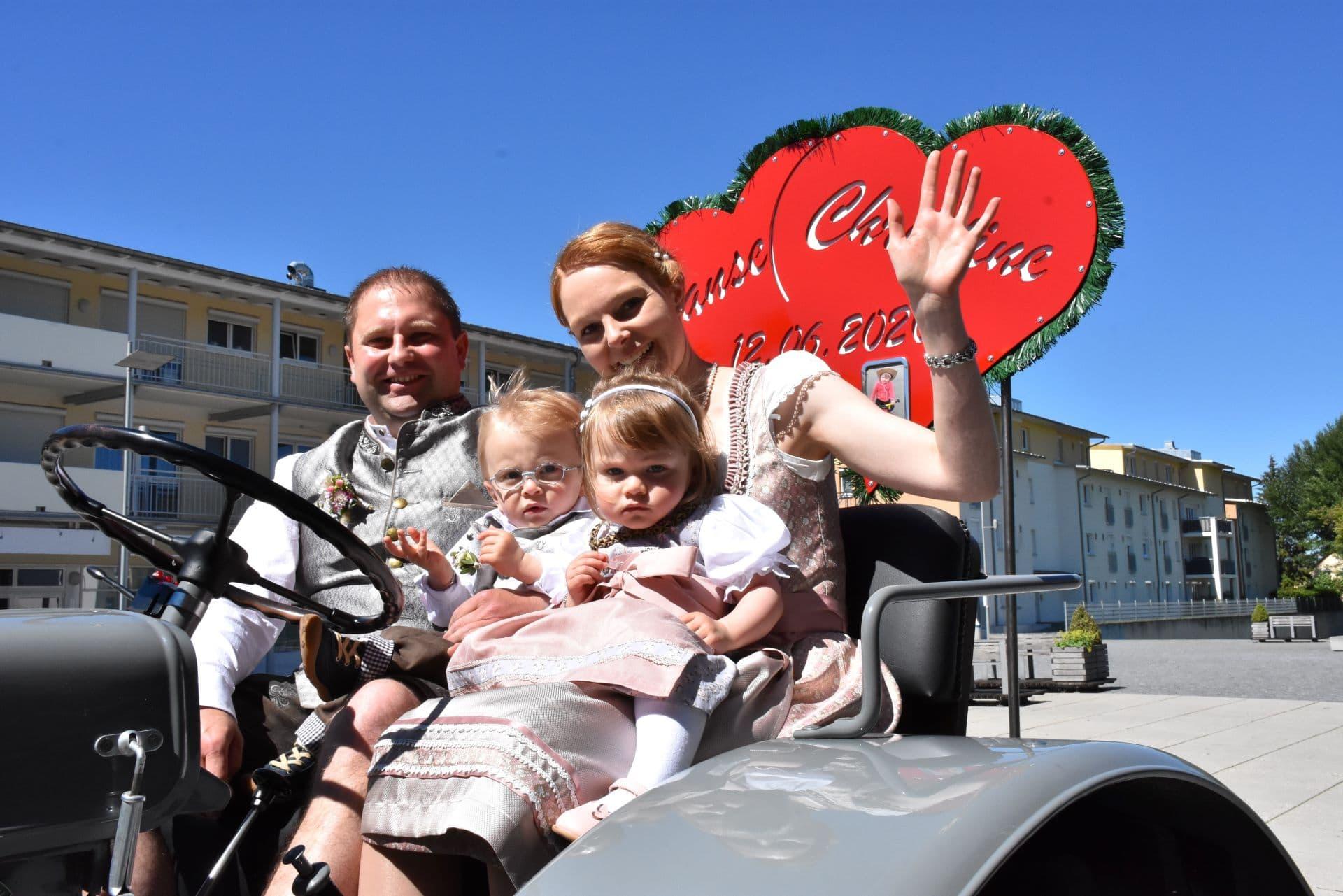 Hochzeit Schlüter Traktor