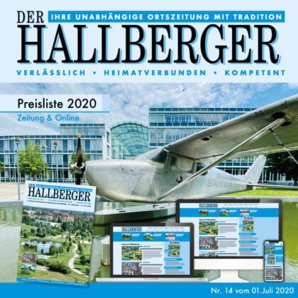 Der Hallberger - Mediadaten Preisliste 2020 für die Ortszeitung in Hallbergmoos